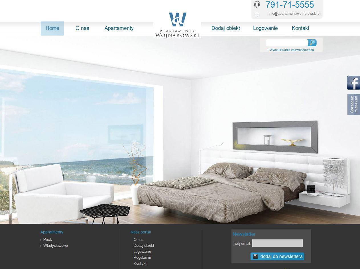 Portal wynajmu apartamentów